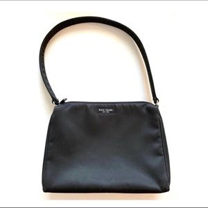 KATE SPADE Iconic Claire Black Nylon Shoulder Bag